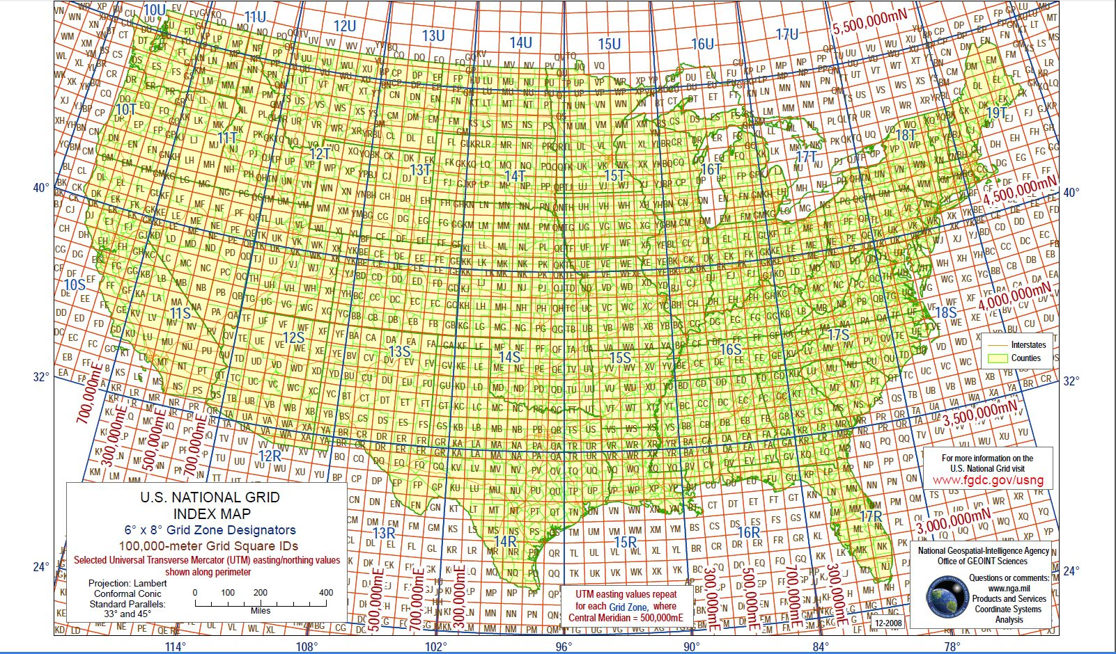 Military Grid Reference System - Location on map with latitude and longitude