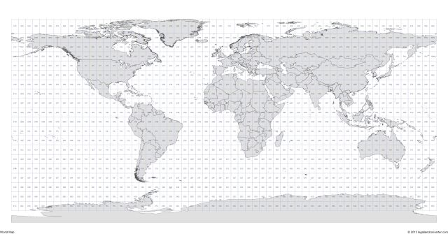 Click for a large 4200 x 2200 World Map with MGRS Grid